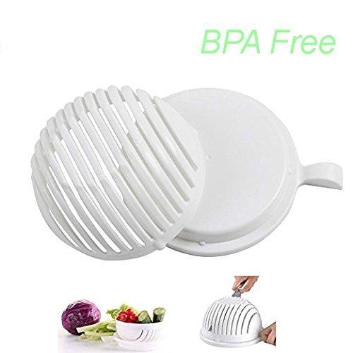Ciotola per insalata cutter, tritatutto, taglia verdure fresche e frutta in pochi secondi senza BPA, coltello per insalata di lattuga o