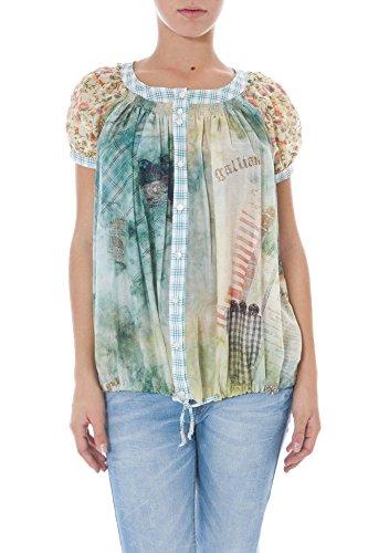 John galliano 34 tr6616 48000 camicia maniche corte donna multicolor s227 38