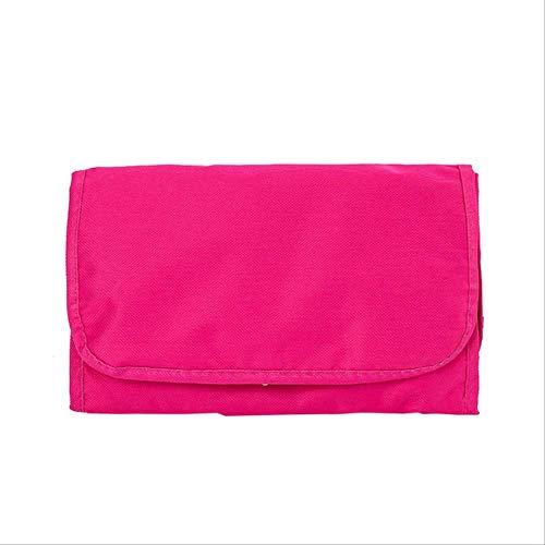 FMWLKJ Professional Nail Box Organizer Travel Cosmetic Case Foldable Washing Storage Bag Hanging Cosmetic Bag Cosmetic Bag 26cm*64.5cm Red -