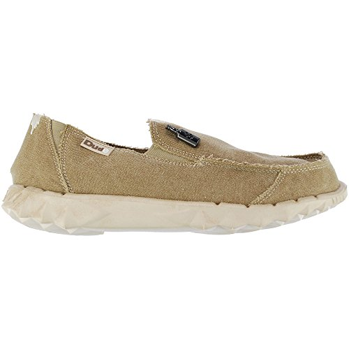 Hey Dude Mens Farty Canvas Shoes Browns & Beiges