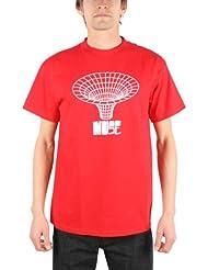 Muse dibujado en Chicos Camiseta en rojo