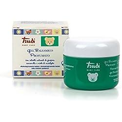 Trudi Baby 00433 Parfümiertes Balsam-Gel mit natürlichen Extrakten aus Wacholder, Kamille und Eukalyptushonig (70 ml), weiß