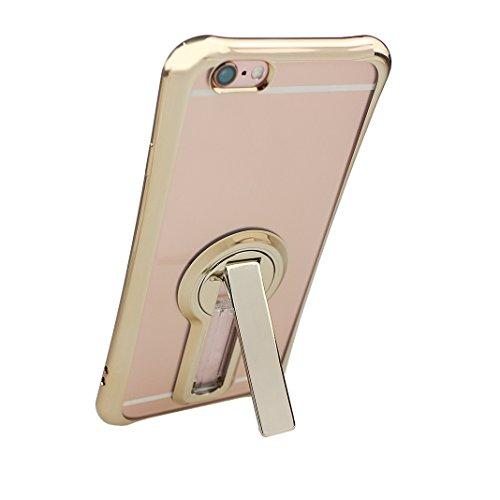 """Hülle iPhone 6S Plus, iPhone 6 Plus Hülle, iPhone 6 Plus Hülle mit Halterung, Moon mood® Hülle mit Unterstützung Kickstand Halter Kratzfeste Plating TPU Case für iPhone 6 Plus / 6S Plus Case (5.5"""") Si 2 Golden"""