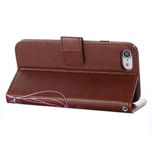 DaYiYang Pour iPhone 7 Horizontal Flip Leather Case Voltage Crazy Horse Texture avec Holder & Card Slots & Wallet & Lanyard ( Color : Brown ) Brown