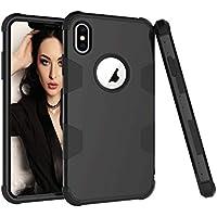 Shinyzone iPhone XS Max 6.5 inch Hülle,Hybrid 3 in 1 Kombination Silikon Innen Hartplastik Schutzhülle mit Schwarz... preisvergleich bei billige-tabletten.eu