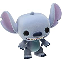 Funko - Figurine Disney Stitch Flocked Exclu Pop 10cm - 0849803071370