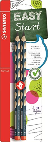 Stabilo easygraph matita ergonomica hb per destrimani - blister da 2