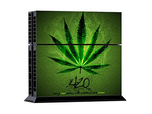 Set di adesivi decorativi per PlayStation 4 (Console + 2 Joypad) - 420 Weed