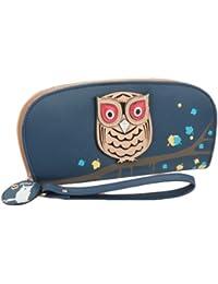 F9Q femmes Hibou mignon creux Imprimer cuir PU longue Card Wallet titulaires de bourse d'embrayage