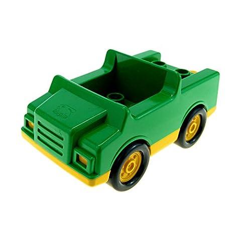 1 x Lego Duplo Fahrzeug Auto grün gelb PKW für Müll Recycling Wagen für Set 9177 2218 c01
