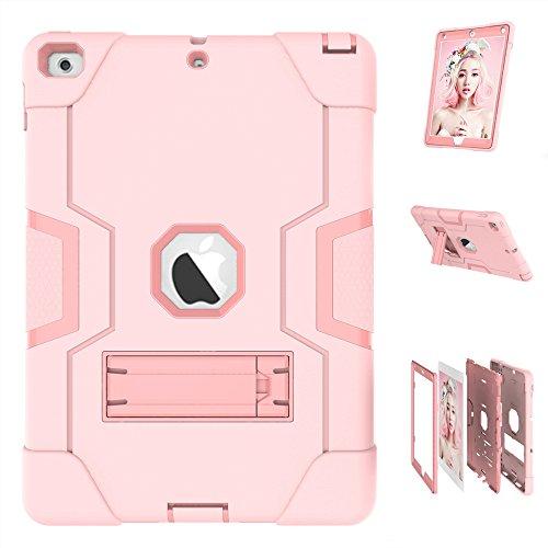 Spritech iPad Mini 4Fall, [ausklappbarem Ständer Serie]-3in 1Stoßfest Heavy Duty Hybrid Drei Schicht Armor Defender Kids Kind Proof Schutzhülle für Apple iPad Mini Version 4(2015), rosa