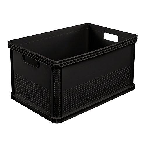 keeeper Stabile Transportbox, Säurebeständig und Lebensmittelecht, 60 x 40 x 32 cm, 64 l, Robert, Graphit Grau