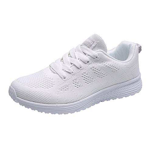 Sneaker Unisex Damen Herren Laufschuhe Sportschuhe Gym Turnschuhe Freizeitschuhe Atmungsaktiv Running Sneaker Low Top Schnürschuhea Mesh Outdoor Shoes Walkingschuhe Trainers Running Fitness Schuhe