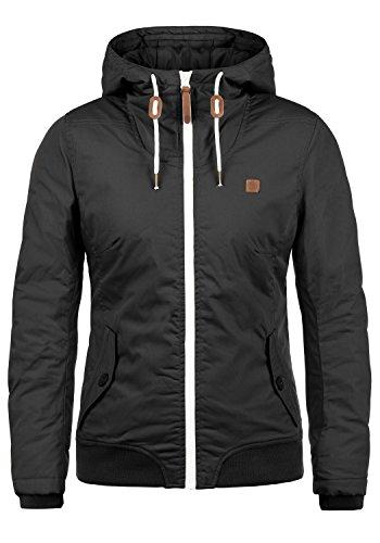 DESIRES Tilla Damen Übergangsjacke Jacke gefüttert mit Kapuze, Größe:M, Farbe:Black (9000)