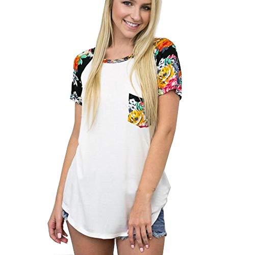 Große Größen Kurzarm Oberteil mit Druck, Oyedens Frauen Mädchen Plus Size Floral Kurzarm Baumwolle Casual ()