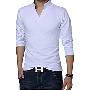 White Polo T Shirts Full Sleeves Tshirts for Men: Amazon.in ...