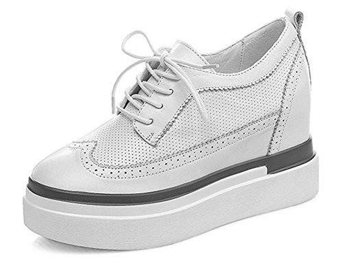 2017 Nouveau Cuir À L'intérieur Des Chaussures Augmentent Avec Des Chaussures Occasionnelles Épaisses Chaussures Lâches Simples Chaussures Imperméables Blanc