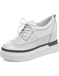 2017 nueva de cuero en el interior del aumento en los zapatos con los zapatos casuales zapatos gruesos aflojados los zapatos impermeables individuales , white , 8
