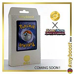 Necrozma-GX 134/147 Full Art - #myboost X Sonne & Mond 3 Nacht in Flammen - Box de 10 Cartas Pokémon Aleman