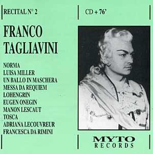 Preisvergleich Produktbild Franco Tagliavini: Recital Vol. 2