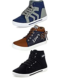 Ethics Combo Pack Of 3 Casual Sneaker Shoes For Men- Multicolour