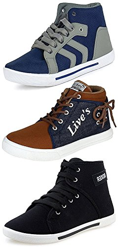 Ethics Men's Combo Of 3 Sneakers - Multicolour (9)