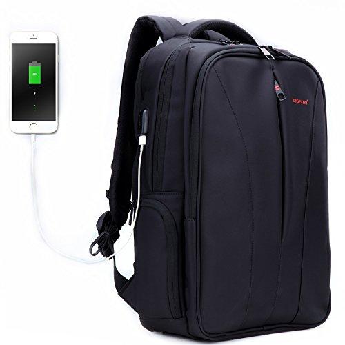 Fubevod Zaino Affari per 15.6 16 computer portatile con porta USB Nero