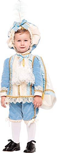 Carnevale Venizano CAV50868-2 - Kleinkindkostüm Principe Azzurro Prestige NEONATO - Alter: 0-3 Jahre - Größe: 2