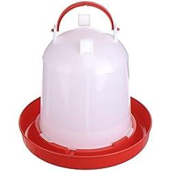 Vlunt comedero y bebedero para aves 1L, 5L y 10L para polluelo, pollo o codorniz (10 litro)