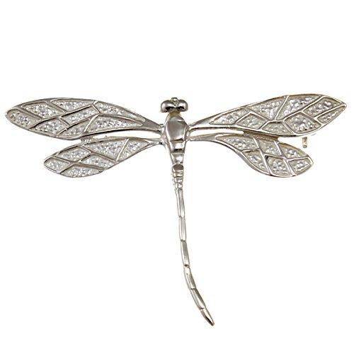 Brosche in Libellen-Optik aus Sterlingsilber, mit Geschenkbox