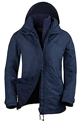 Mountain Warehouse Fell Wasserabweisende Damenjacke 3 in 1 rausnehmbarer Fleece-Innenteil Multifunktionsjacke Regenjacke von Mountain Warehouse auf Outdoor Shop