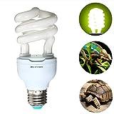 Ampoule Lampe UV Reptile, E27 UVB 13W pour Tortue Complément Calcium Tortue Fluorescent Vivarium - 5.0 uvb output