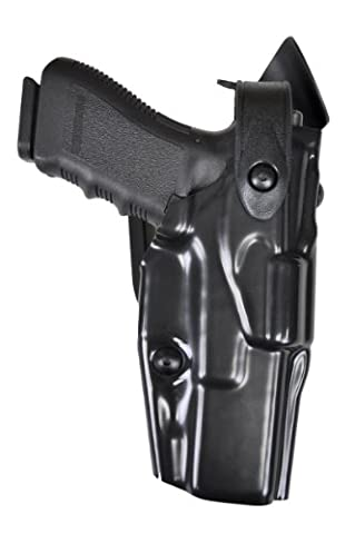 Safariland 6360 Level 3 Retention ALS Duty Holster, Mid-Ride, Black, STX High Gloss, Right Hand, Glock 23 with M3