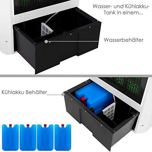 KESSER® 4in1 Mobile Klimaanlage   Fernbedienung   Klimagerät   Ventilator Klimaanlage   8 L Wasser/Eis Tank   Timer   3 Stufen   Ionisator Luftbefeuchter   Luftkühler Weiß Bild 5*