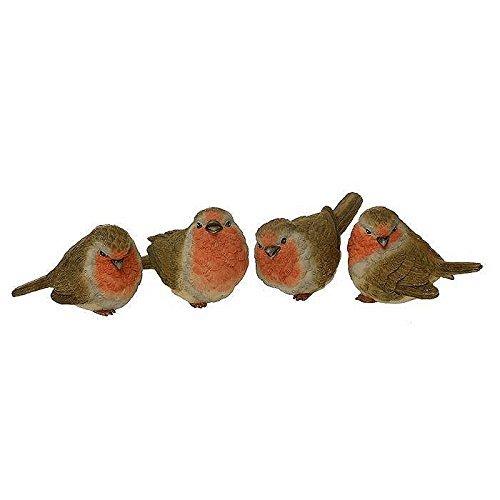 Die Fantastischen Vier Wer (Set von 4Sweet Mini Winter/Weihnachten Robins–Ideal für Winter, Weihnachten Dekoration)