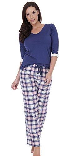 Mesdames Tom Franks Vérifiez Pyjama Bleu