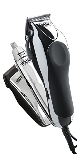 Price comparison product image Wahl Chrome Pro Deluxe Mains Hair Clipper, Trimmer and Nasal Trimmer Chrome Gift Set