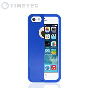Timetec® Dual Two Double Layer Hybrid Case Cor Apple New iPhone 5/5S/SE 5th Generation (AT&T, T-Mobile, Sprint, Verizon), Soft Flexible Perfect Slim Fit Silicone TPU Skin with Hard Rubber Plastic Polycarbonate Bumper Cover Sh