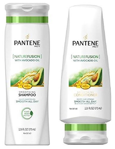 Pantene Pro-V Shampoo & Conditioner Set, Nature Fusion with Avocado Oil, 12 Ounce Each by Pantene