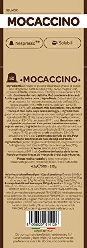 FRHOME - 50 Capsule Mocaccino - Compatibili con Macchine da caffè Nespresso Il Caffè Italiano