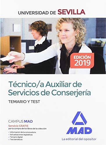 Técnico/a Auxiliar de Servicios de Conserjería de la Universidad de Sevilla. Temario y test