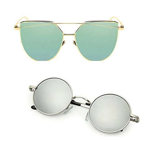 Elligator UV Protection Cateye Unisex Sunglasses (Multicolour)