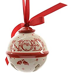 Sfera di Natale in Ceramica Noel Ø 8 cm.