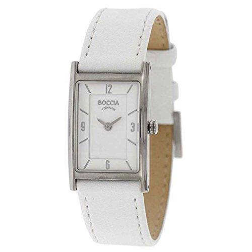 Boccia Damen Analog Quarz Uhr mit Leder Armband 3212-04
