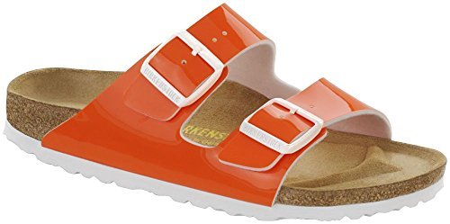 BIRKENSTOCK Damen Arizona Birko-Flor Lack Normal Sandale Orange