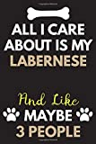 All I Care About Is My Labernese Notebook / Journal 6x9 Ruled Lined 120 Pages School Degree Student Graduation university: for Labernese lover ... blotter birthday gift journal notebook diary