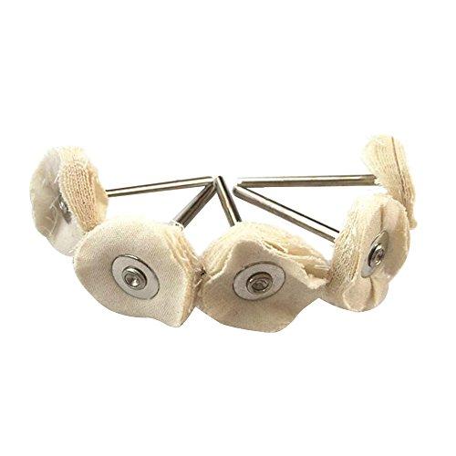 Haobase 12 Stück Polierscheibe aus Baumwolle 2.35mm Schaft passt Dremel Rotary Tools