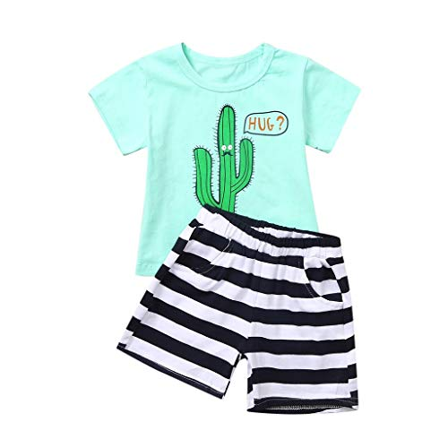 Yesmile Baby Jungen Kleidung Set Kinder T-Shirt Baumwolle Streifen Feuer Cartoon Jungen Mädchen Kurzarm Oberteil Pullover Größe Baseball Infant Bodysuit