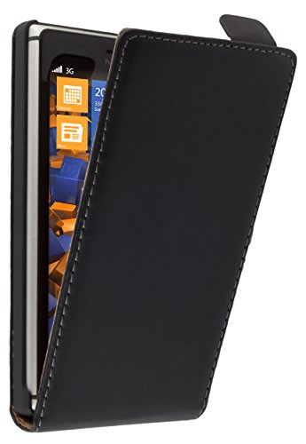 mumbi PREMIUM Leder Flip Case für Nokia Lumia 925 Tasche