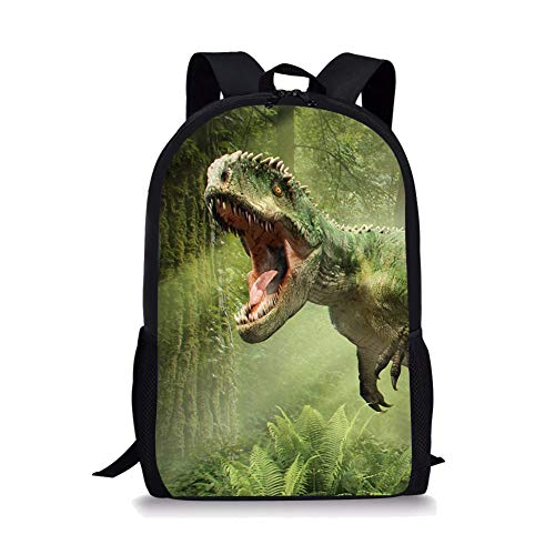 chule Tasche Dinosaurier-Nette Kinder Durable Personalisierte Rucksack Bookbags Running Tyrannosaurus Rex ()